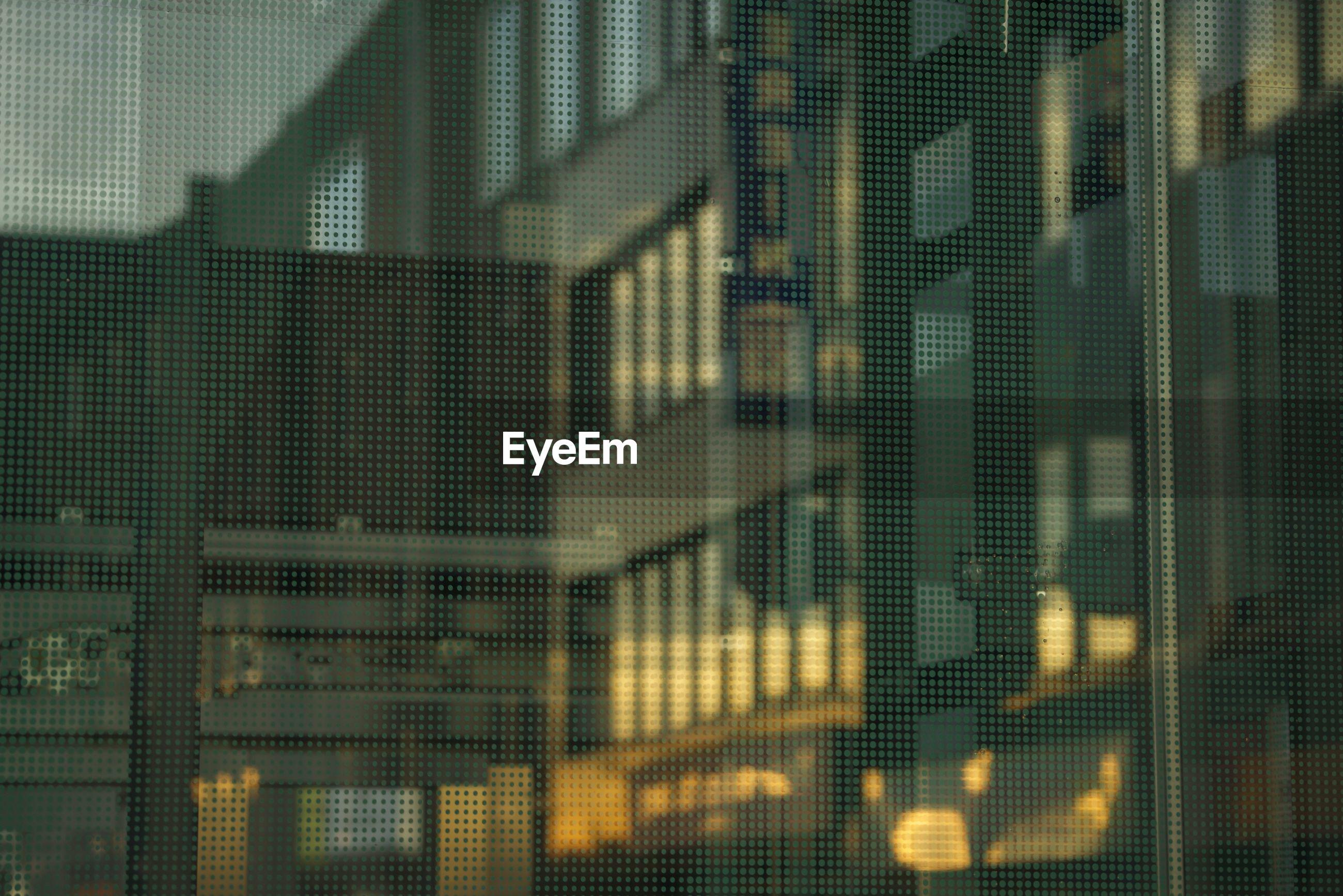 Full frame shot of office building window