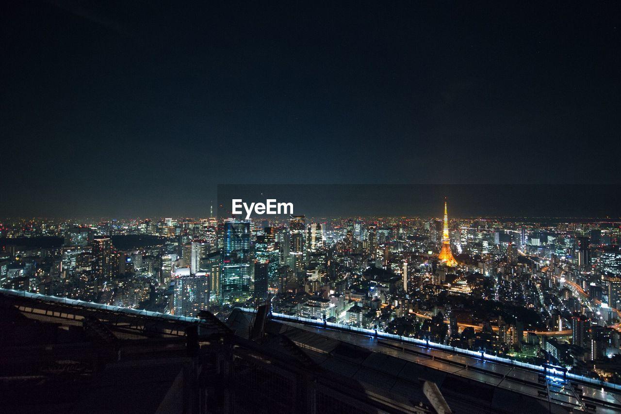 High Angle View Of Paris At Night