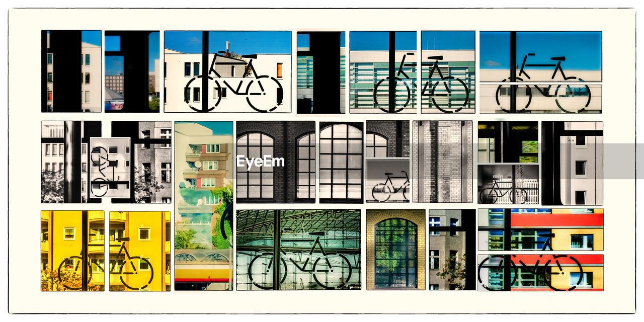 DIGITAL COMPOSITE IMAGE OF GRAFFITI ON BUILDING
