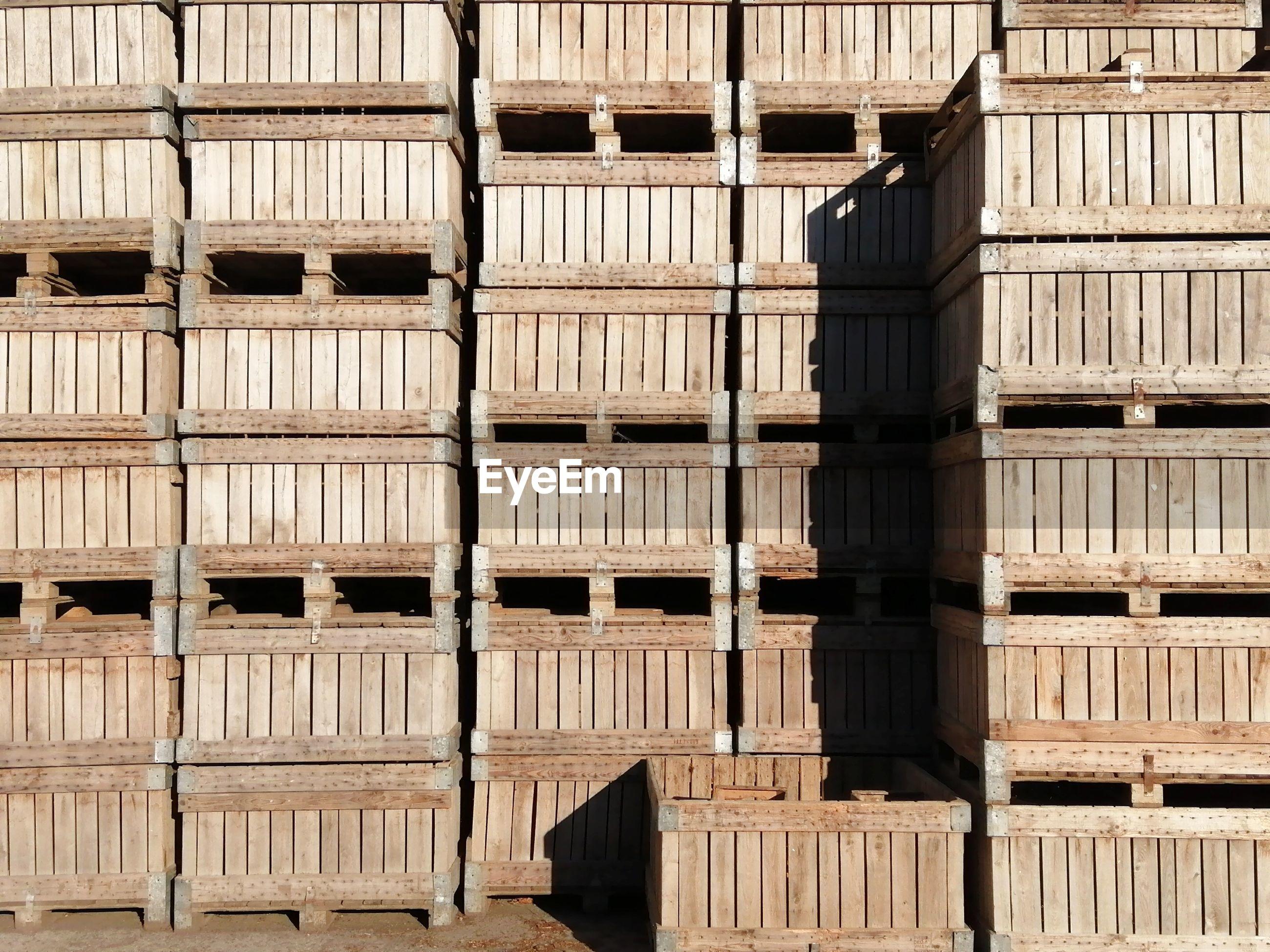 Full frame shot of warehouse