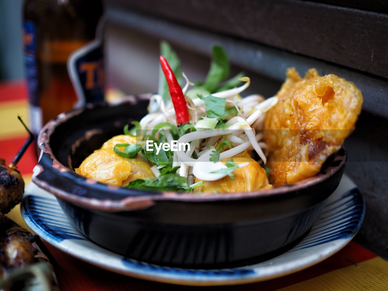 Close-Up Of Food Served In Bowl On Table