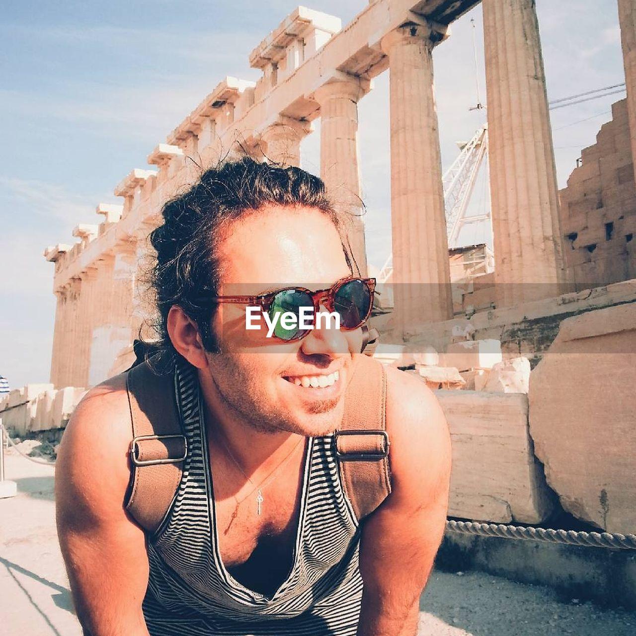 Close-Up Of Man At Acropolis Of Athens