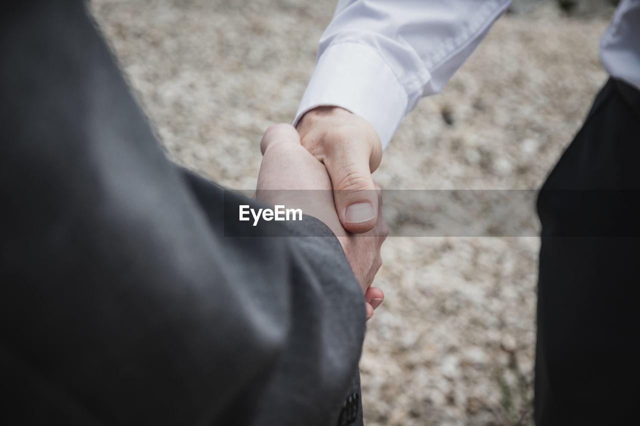 Cropped Image Of Businessman Doing Handshake