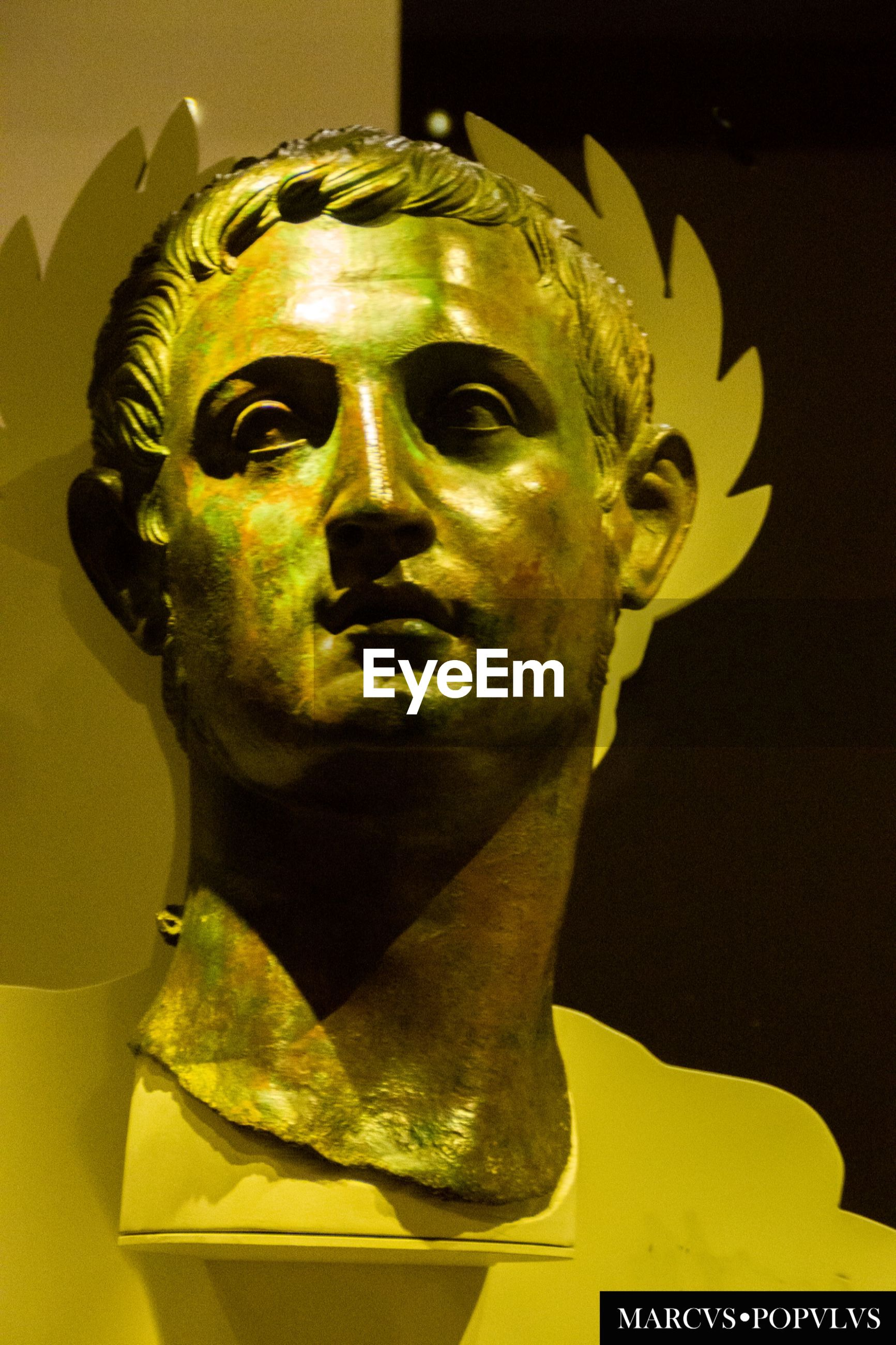 gold colored, spooky, halloween, indoors, disguise, statue, night, close-up, no people