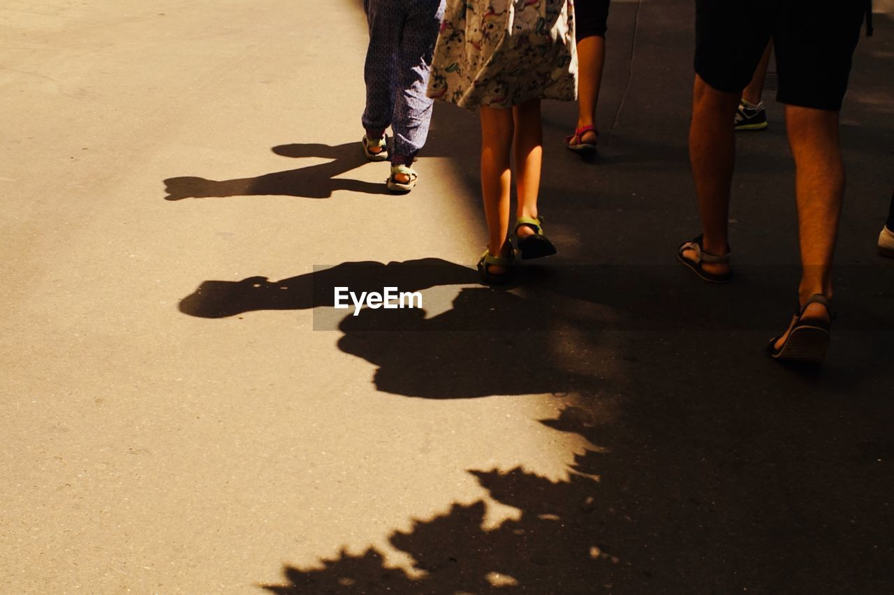 low section, shadow, real people, sunlight, human leg, body part, group of people, human body part, women, lifestyles, nature, walking, street, men, city, adult, motion, people, day, togetherness, outdoors, human foot, human limb