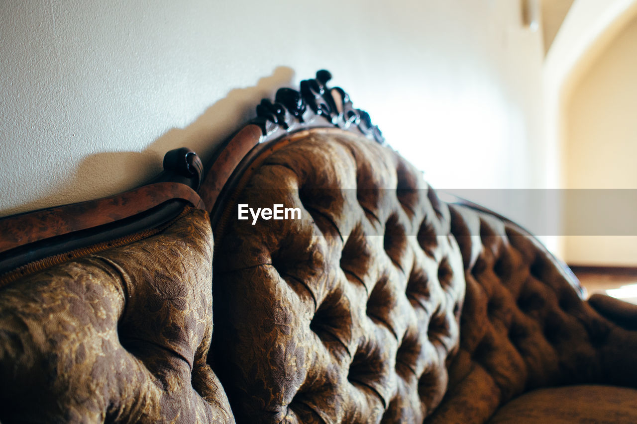 Sofa By Wall At Home