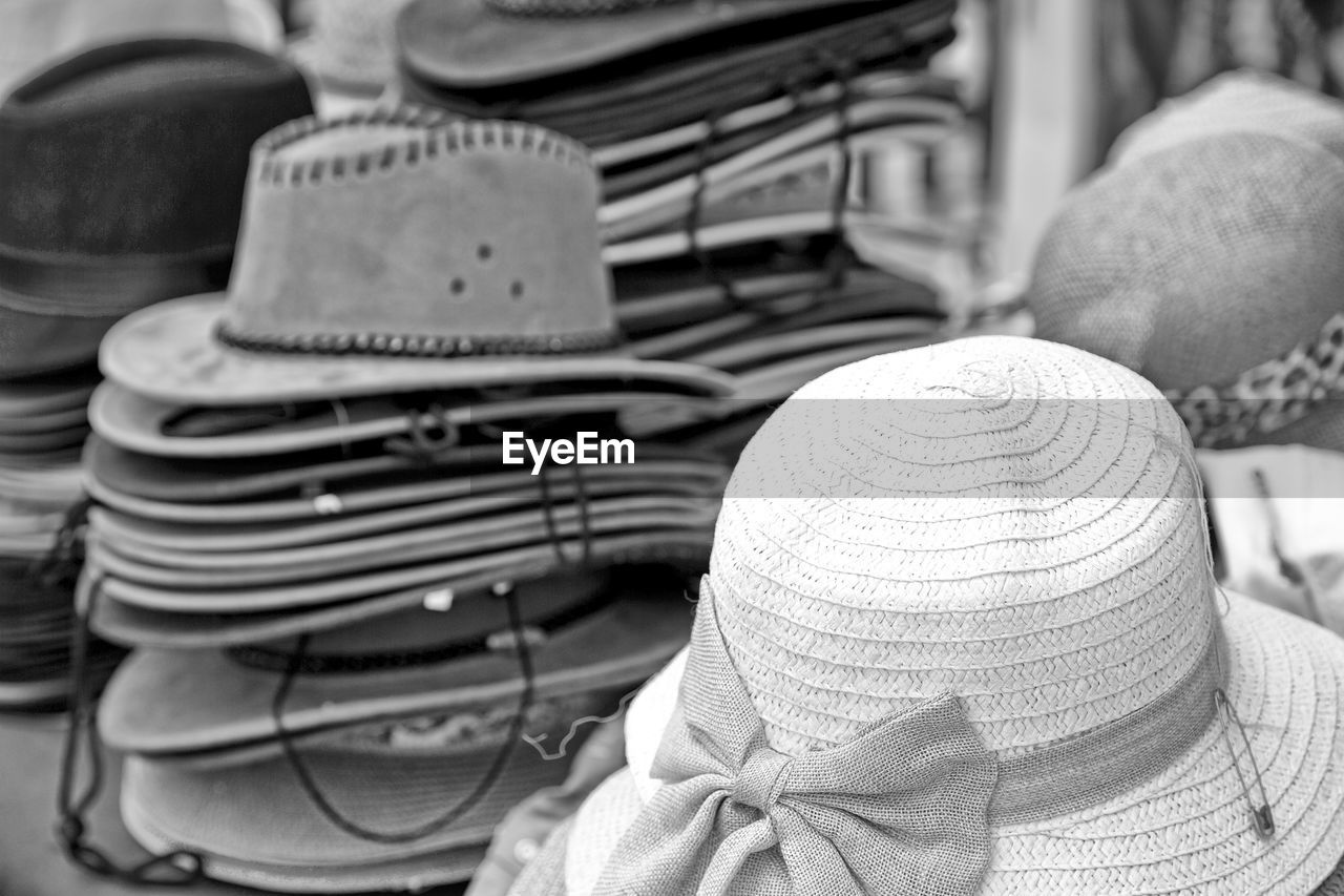 Hats for sale at market