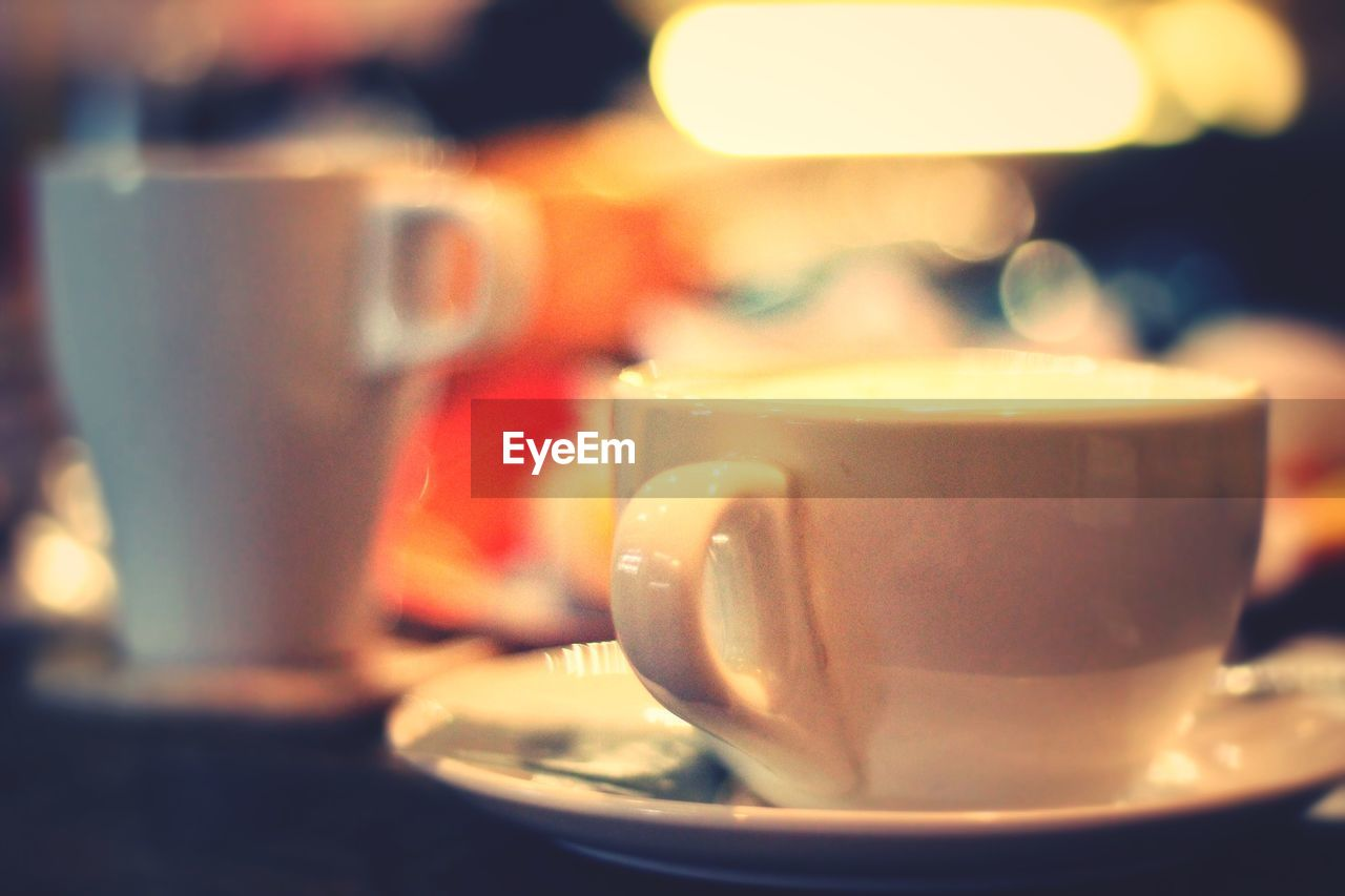 drink, refreshment, food and drink, saucer, coffee cup, cup, close-up, table, indoors, coffee - drink, freshness, drinking glass, plate, no people, frothy drink, day