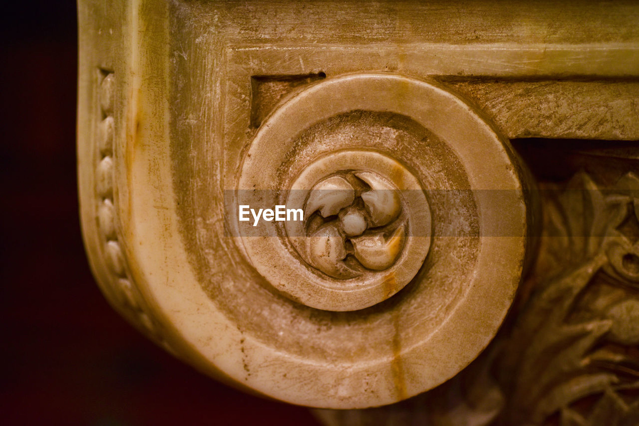 close-up, no people, spiral, indoors, pattern, swirl, shape, focus on foreground, brown, geometric shape, creativity, art and craft, circle, design, beauty in nature, selective focus, nature, studio shot, freshness