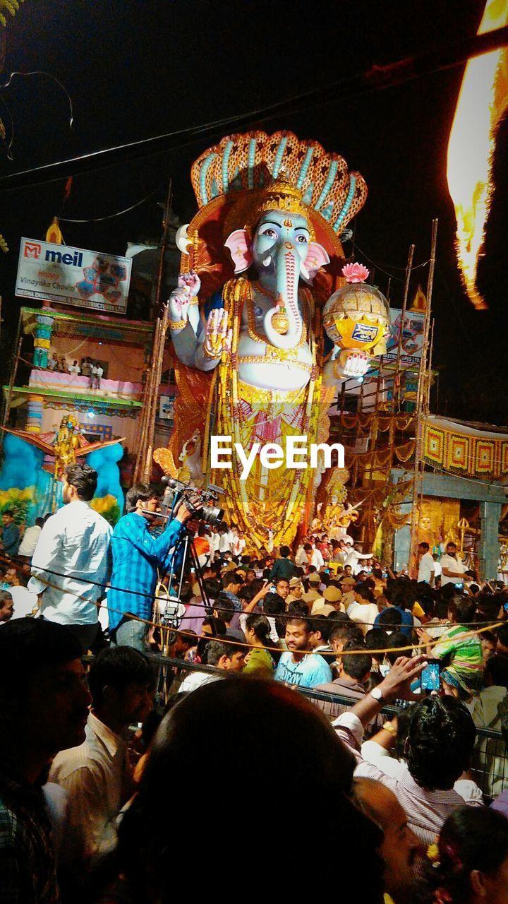 People Celebrating Ganesh Chaturthi