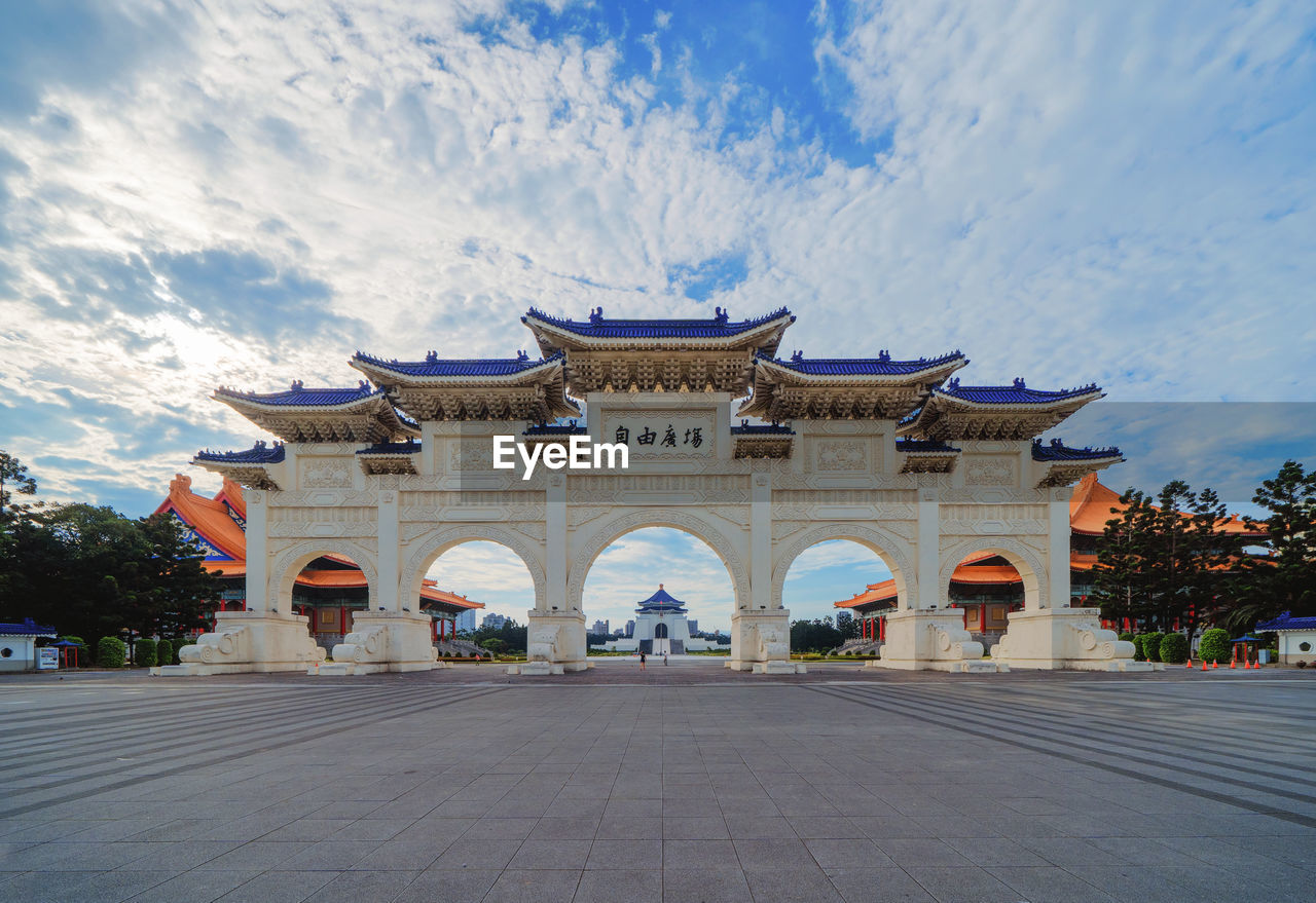architecture, built structure, building exterior, sky, cloud - sky, building, facade, travel destinations, religion, nature, the past, history, belief, place of worship, incidental people, arch, travel, outdoors, architectural column, courtyard, ornate