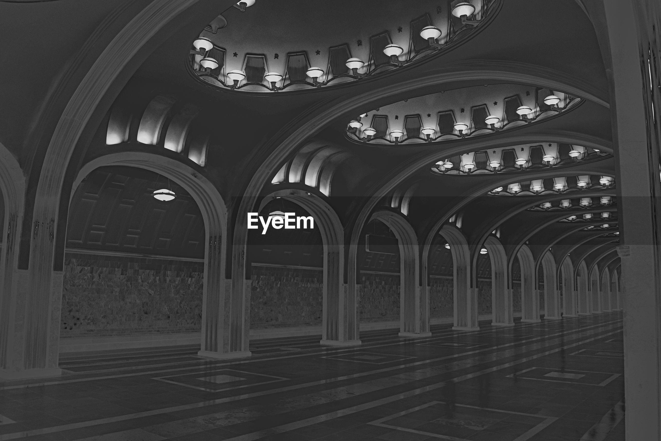 Interior of historic metro station