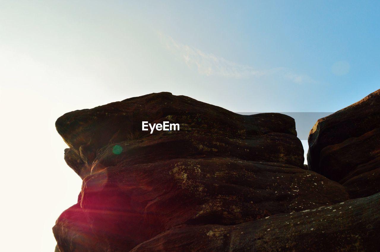 LOW ANGLE VIEW OF ROCKS
