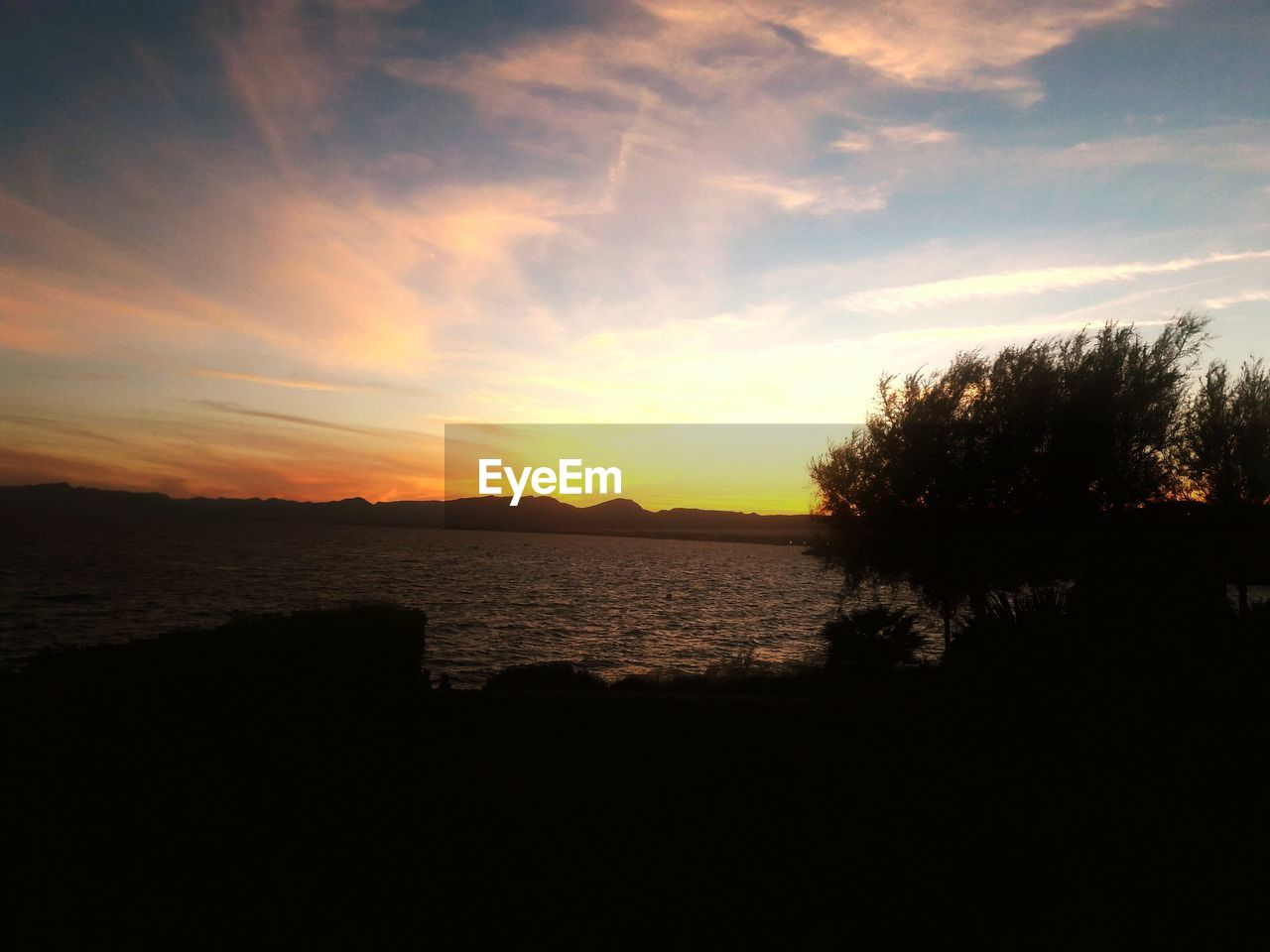 sunset, silhouette, nature, sky, landscape, water, no people, scenics, beauty in nature, outdoors