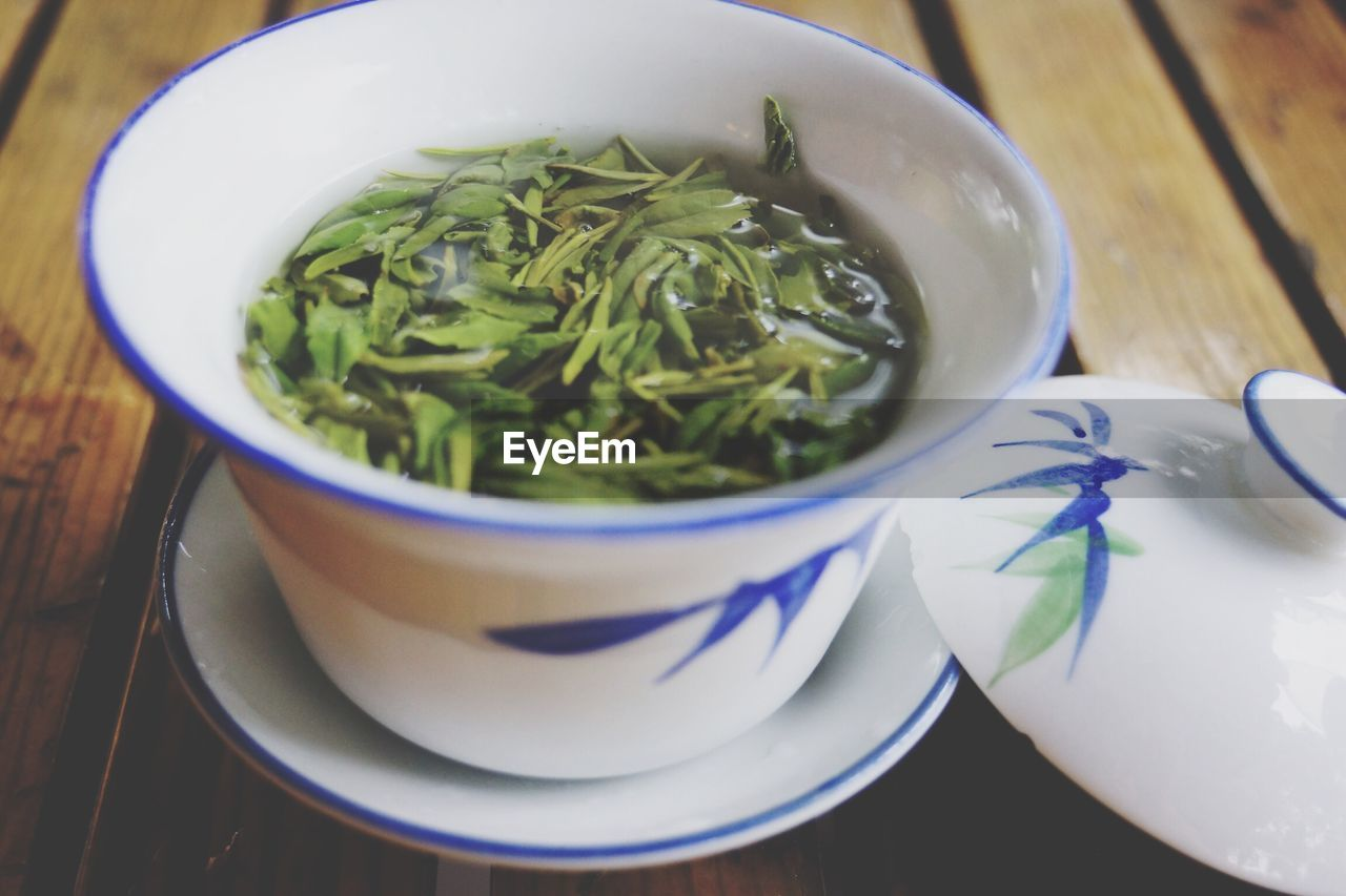 Close-Up Of Herbal Tea On Table