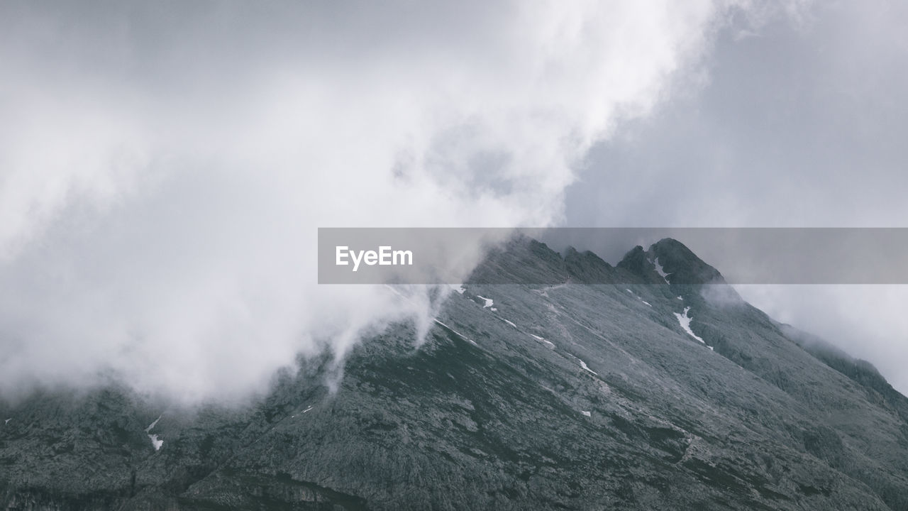 Storm clouds in the mountains