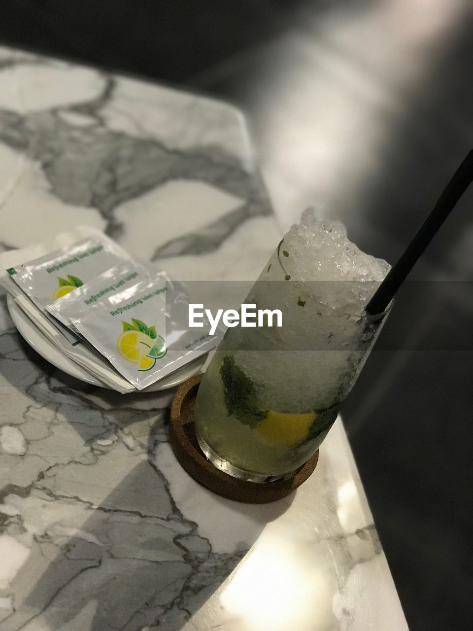 bottle, drink, food and drink, paper currency, no people, close-up, high angle view, refreshment, alcohol, indoors, drinking glass, food, freshness, day