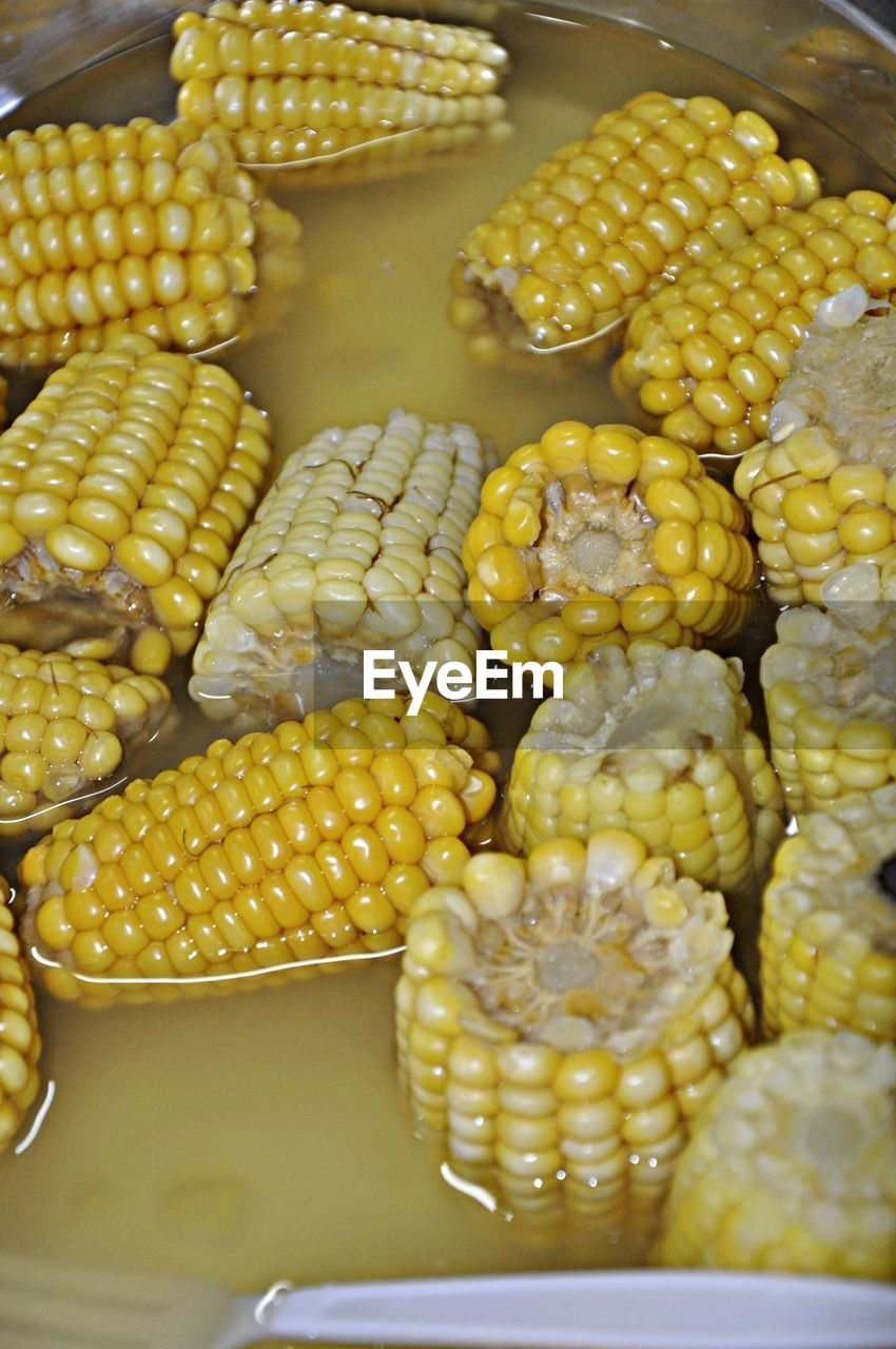 corn on the cob, corn, food and drink, food, healthy eating, for sale, yellow, no people, retail, freshness, indoors, close-up, day