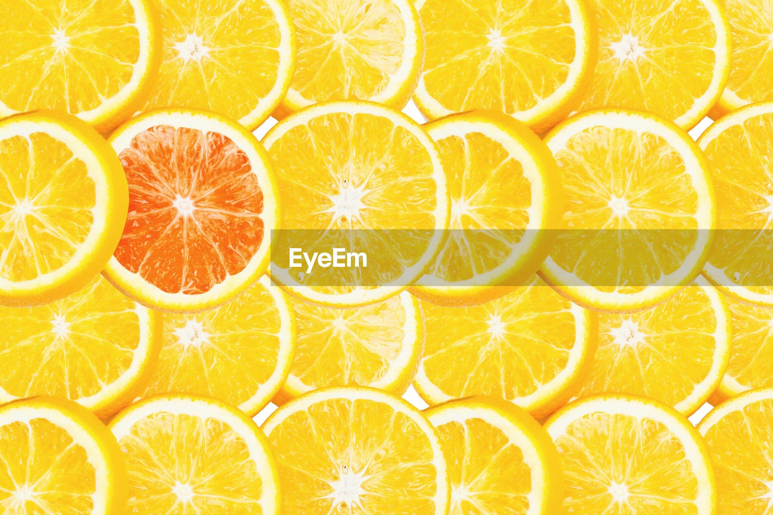Full frame shot of orange slice