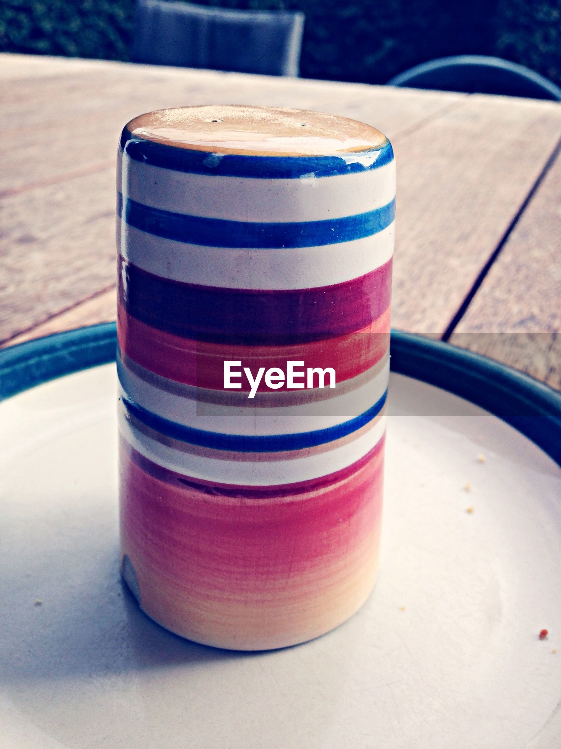 Multi colored object on table
