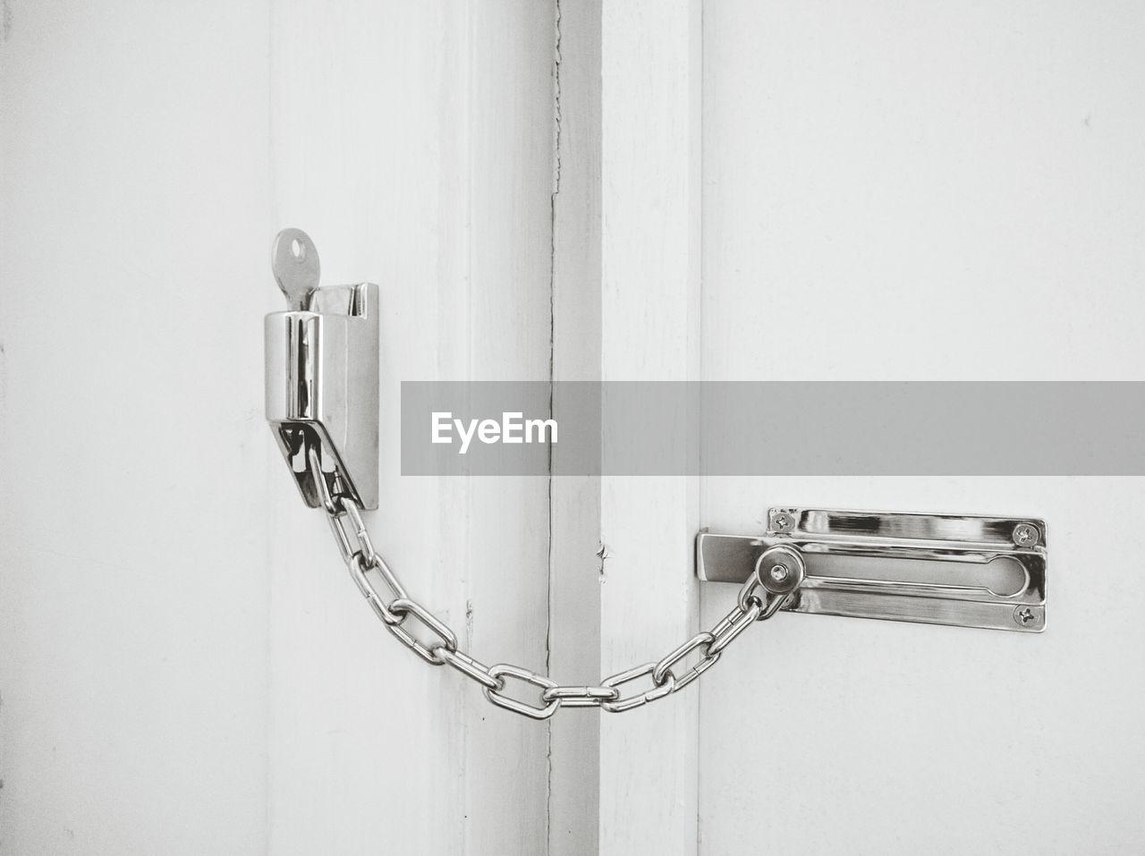 Close-Up Of Latch On Door
