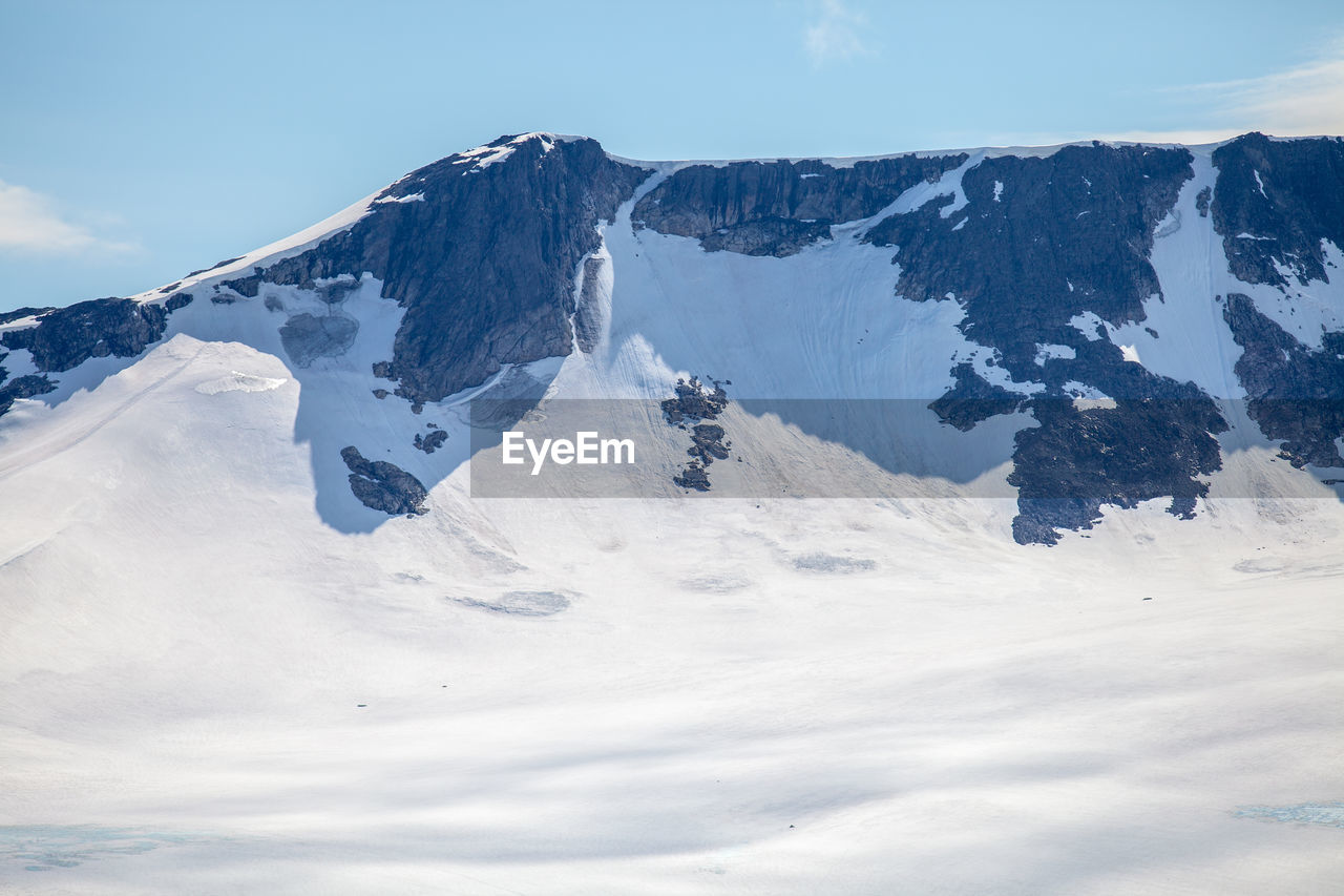 Snowcapped Mountain At Jotunheimen National Park