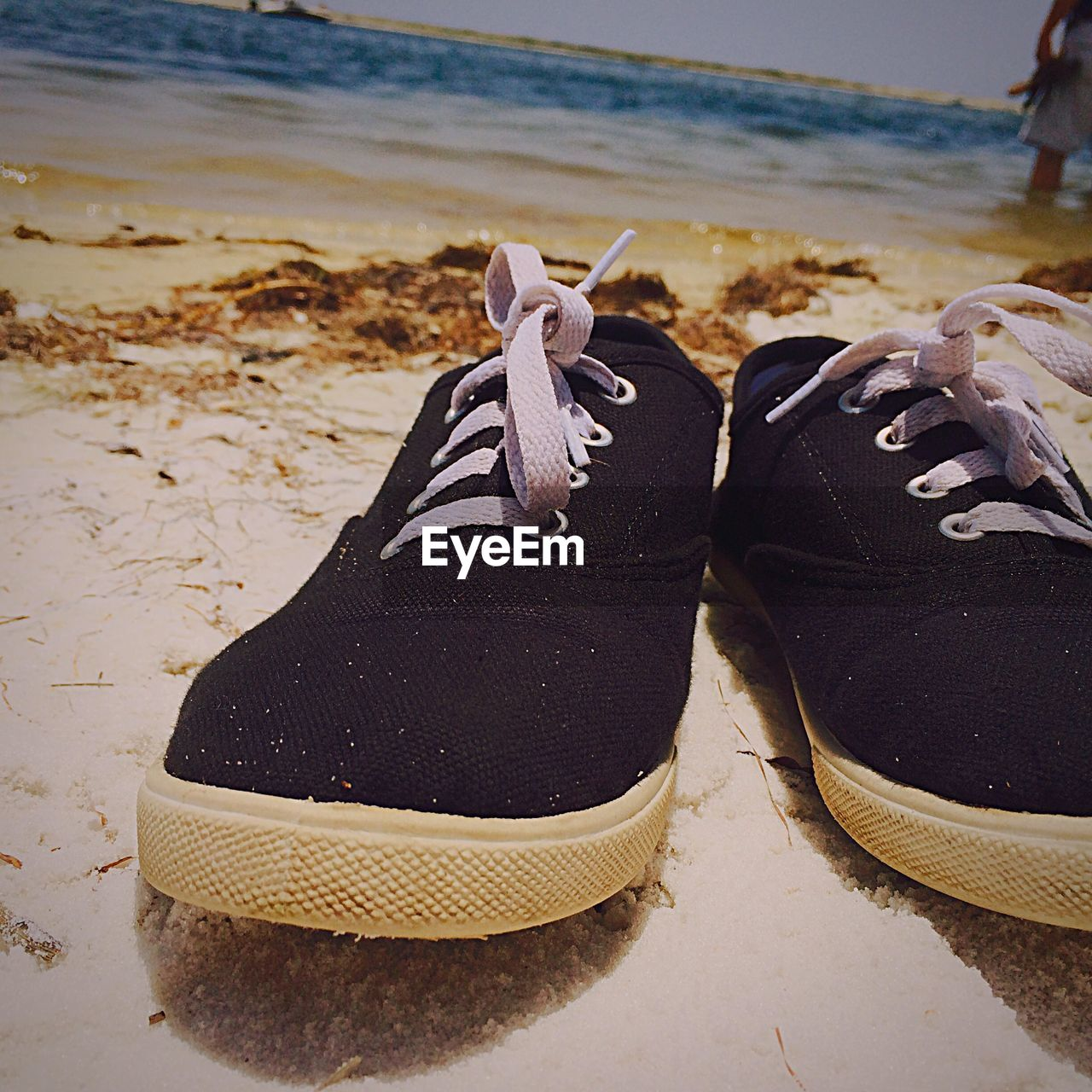 Canvas Shoes On Beach