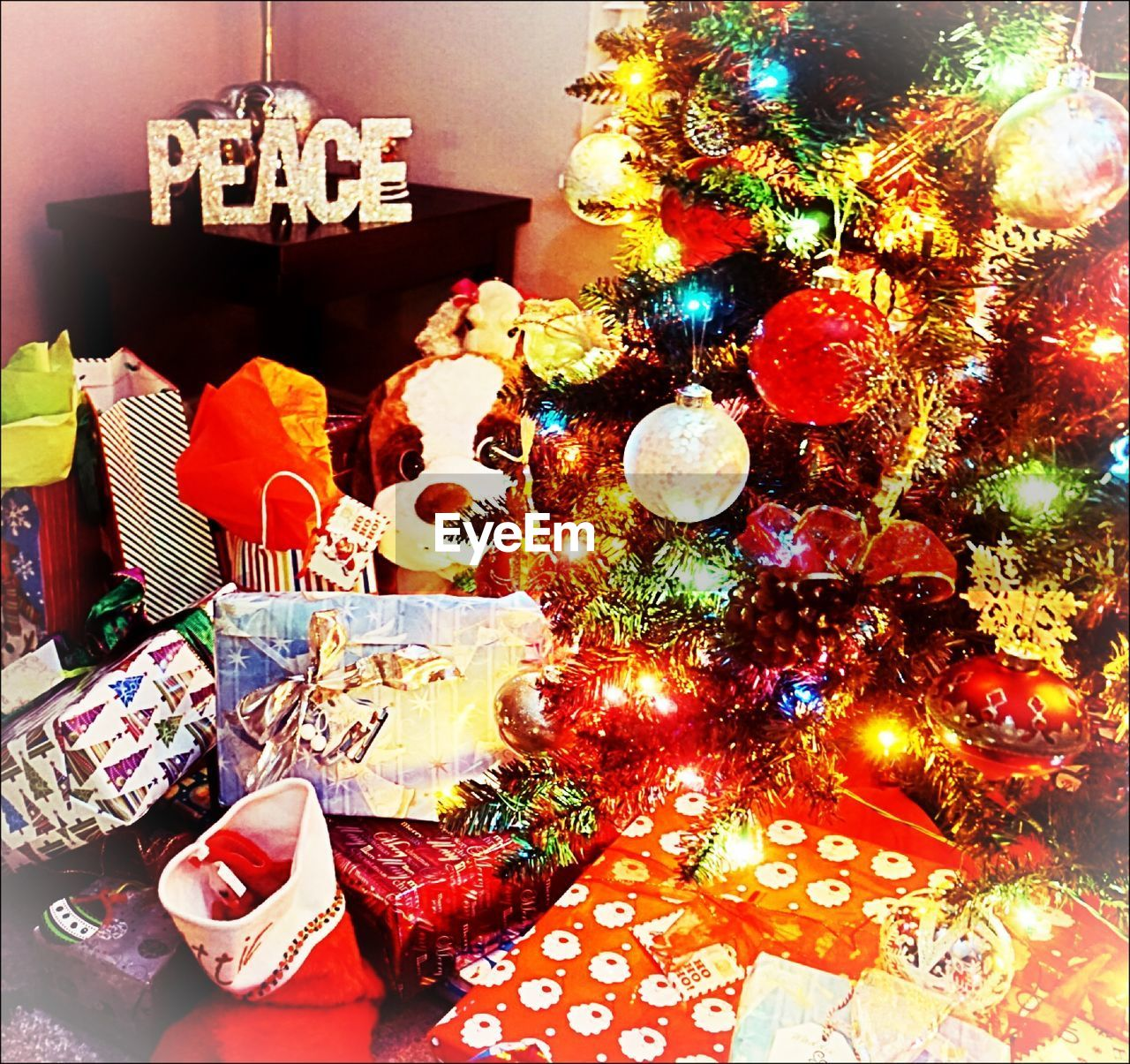 christmas, table, indoors, no people, christmas decoration, celebration, variation, multi colored, close-up, day