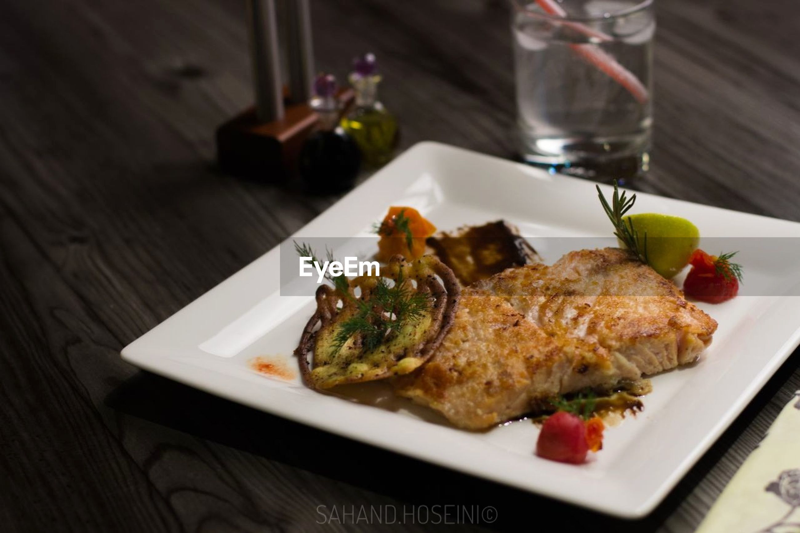 plate, food and drink, freshness, ready-to-eat, food, healthy eating, indoors, table, serving size, no people, gourmet, garnish, close-up, roast chicken, day