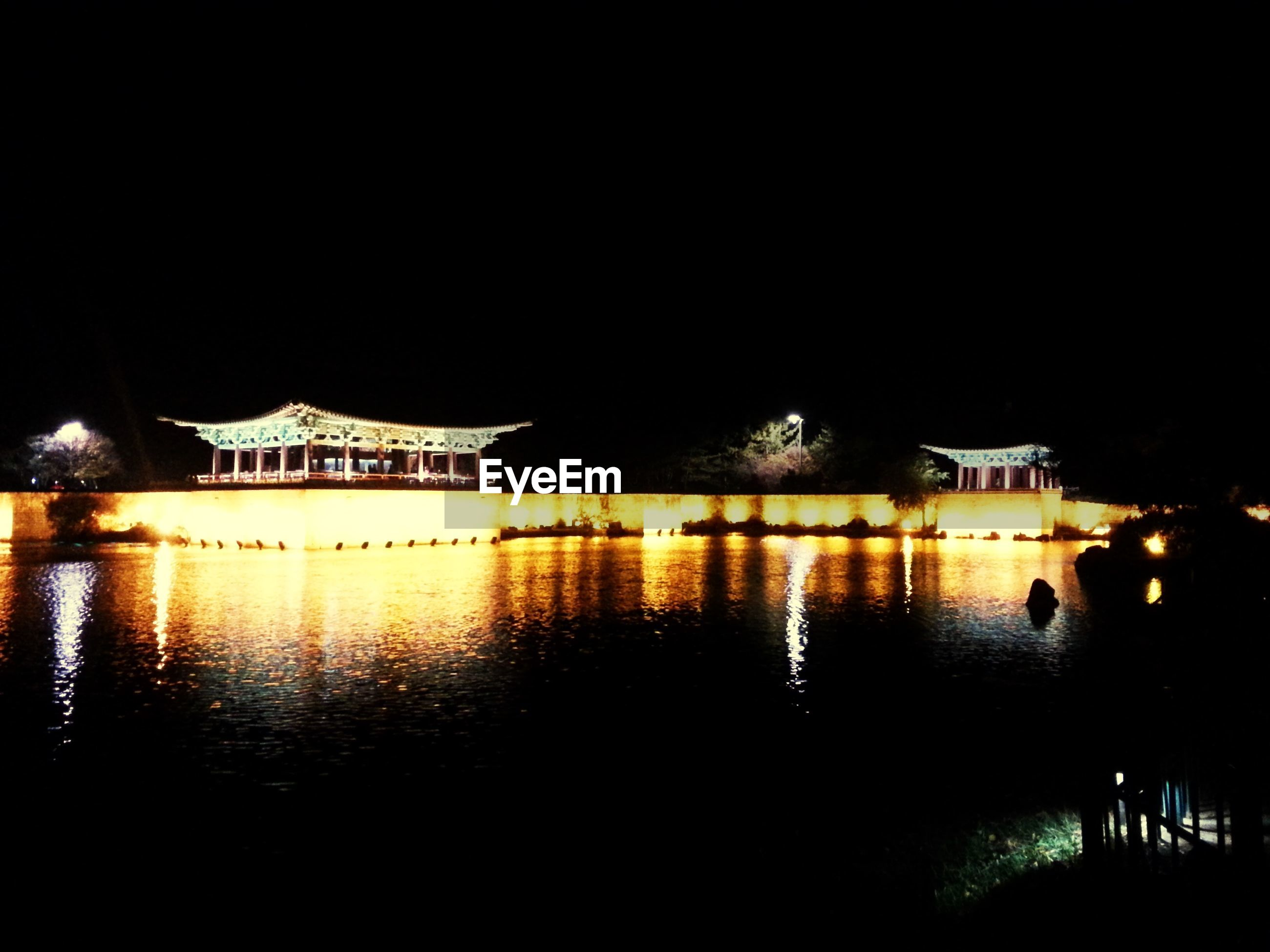 architecture, night, built structure, building exterior, illuminated, water, reflection, clear sky, waterfront, copy space, river, city, dark, outdoors, sky, house, no people, history, building, canal