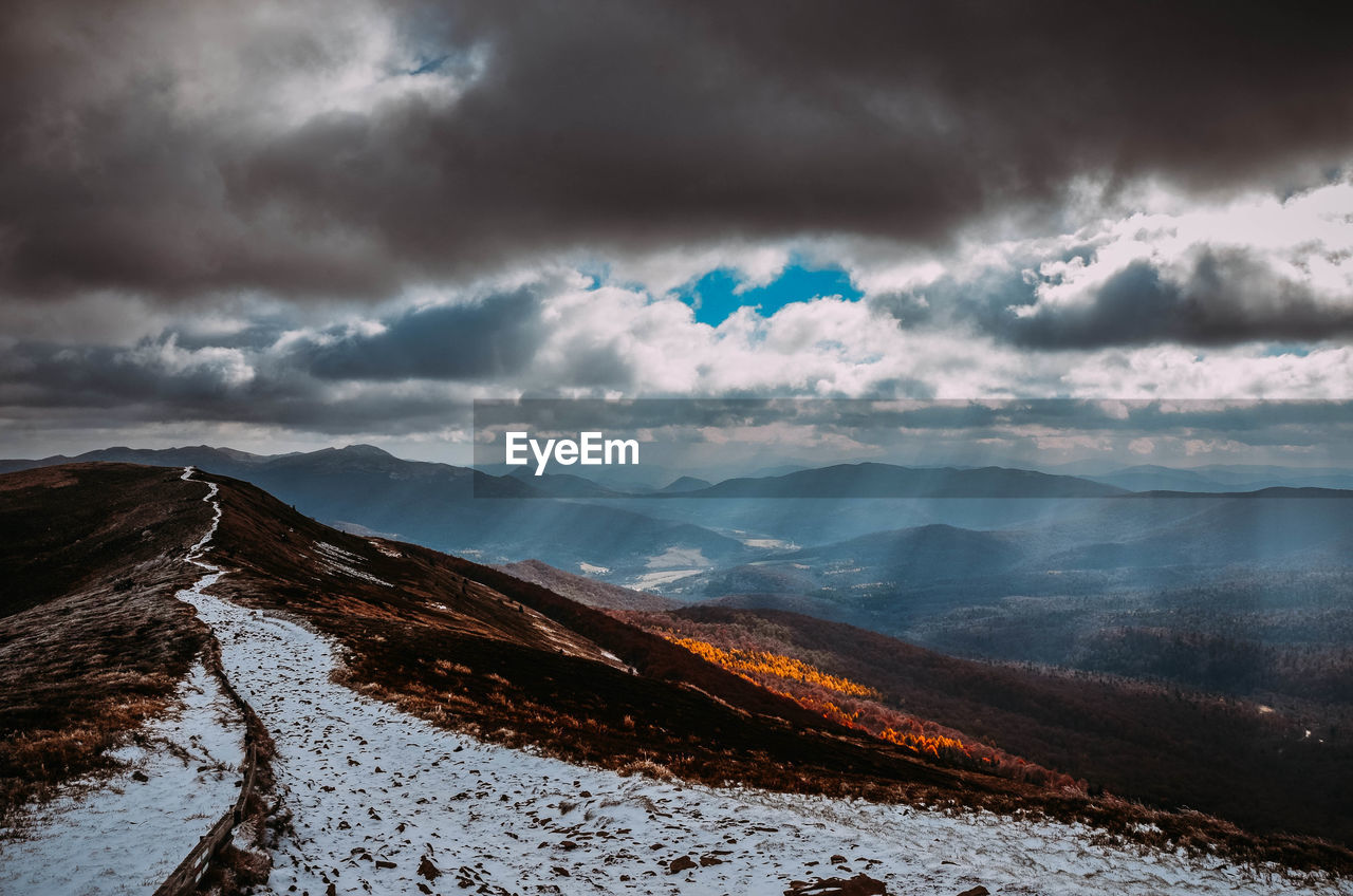 cloud - sky, sky, beauty in nature, scenics - nature, tranquility, tranquil scene, mountain, environment, nature, no people, winter, landscape, non-urban scene, cold temperature, snow, mountain range, day, idyllic, land, outdoors, snowcapped mountain