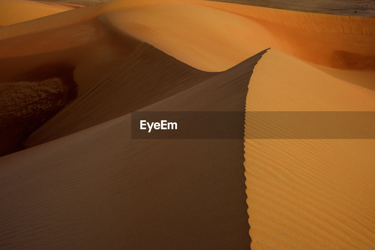 desert, sand dune, no people, arid climate, sand, climate, nature, pattern, sunlight, full frame, land, shadow, day, close-up, landscape, high angle view, beauty in nature, brown, outdoors, backgrounds