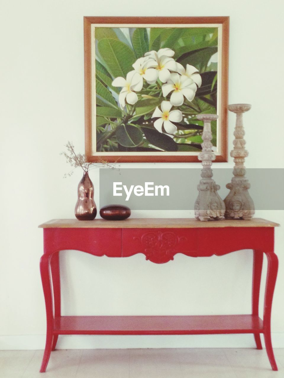 table, flower, indoors, vase, no people, home interior, plant, nature, red, growth, chair, home showcase interior, day, close-up