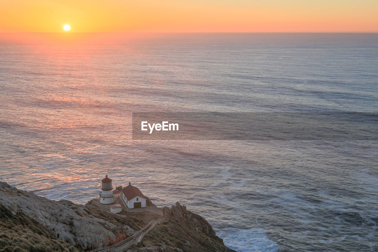 Sunset over point reyes lighthouse