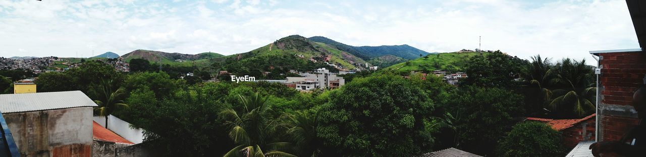 Panoramic View Of Mountains Seen From Balcony