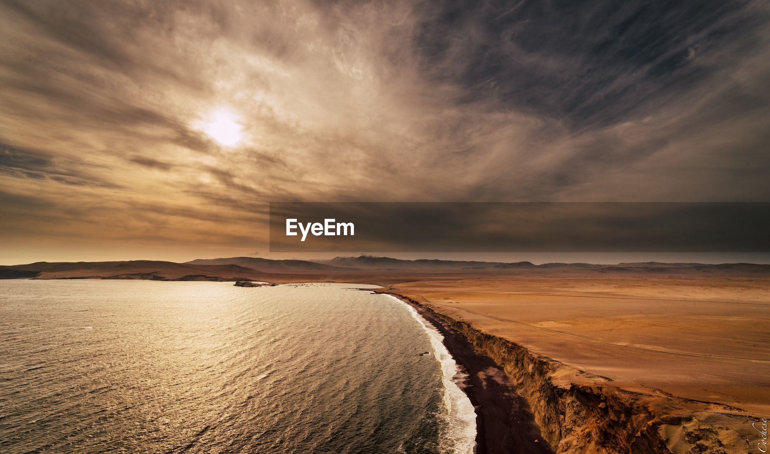 SCENIC VIEW OF SEA DURING SUNSET