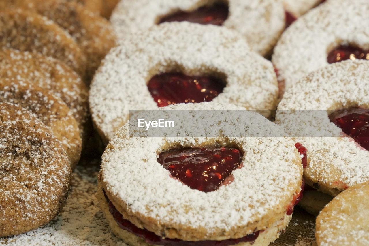 Close-Up Of Jam Cookies