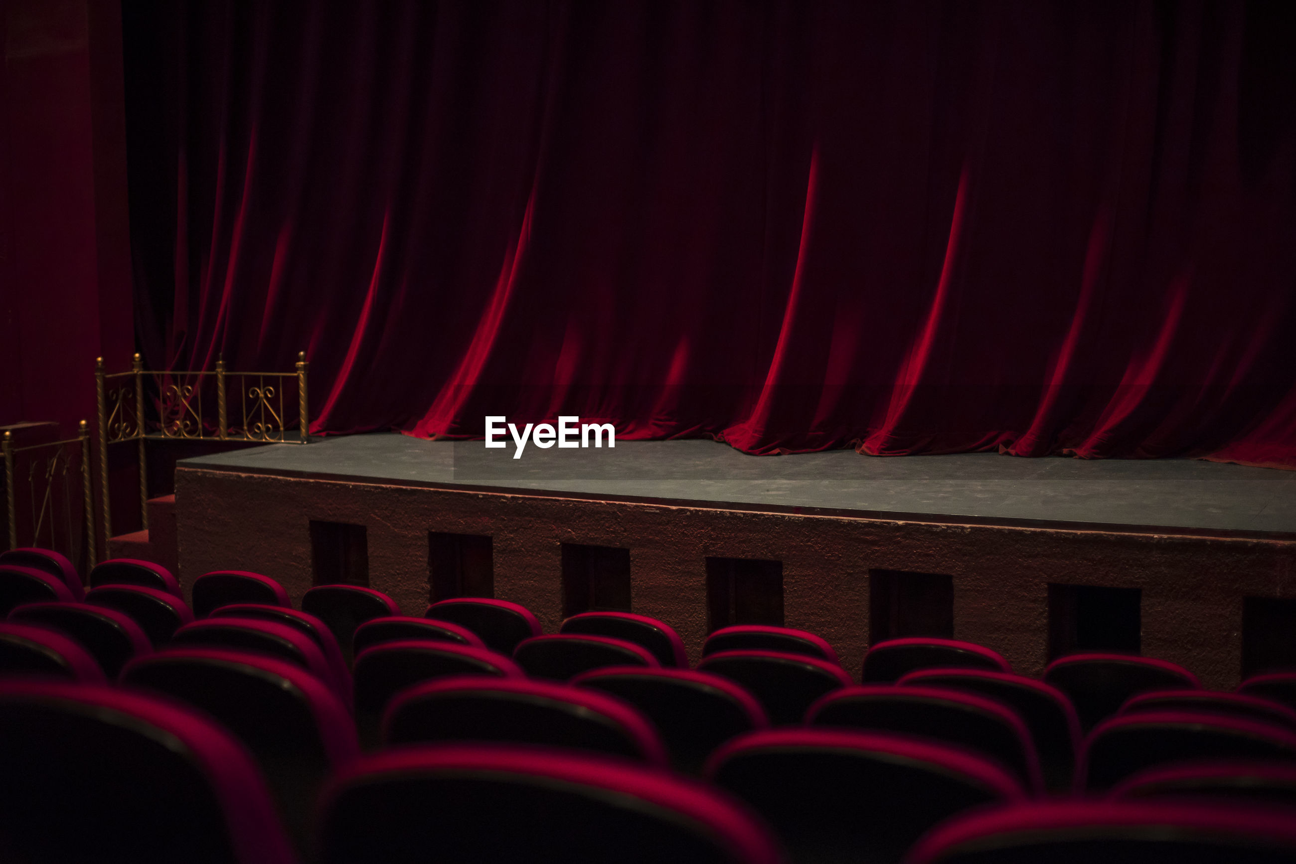 View of chairs at theater
