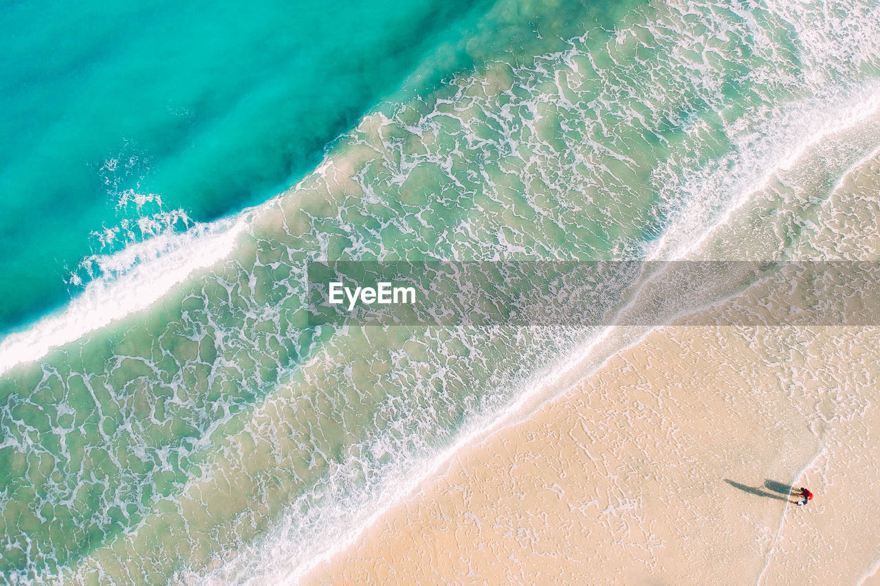 water, motion, nature, sea, land, high angle view, wave, sand, sport, no people, day, beach, aquatic sport, beauty in nature, outdoors, aerial view, travel destinations, turquoise colored