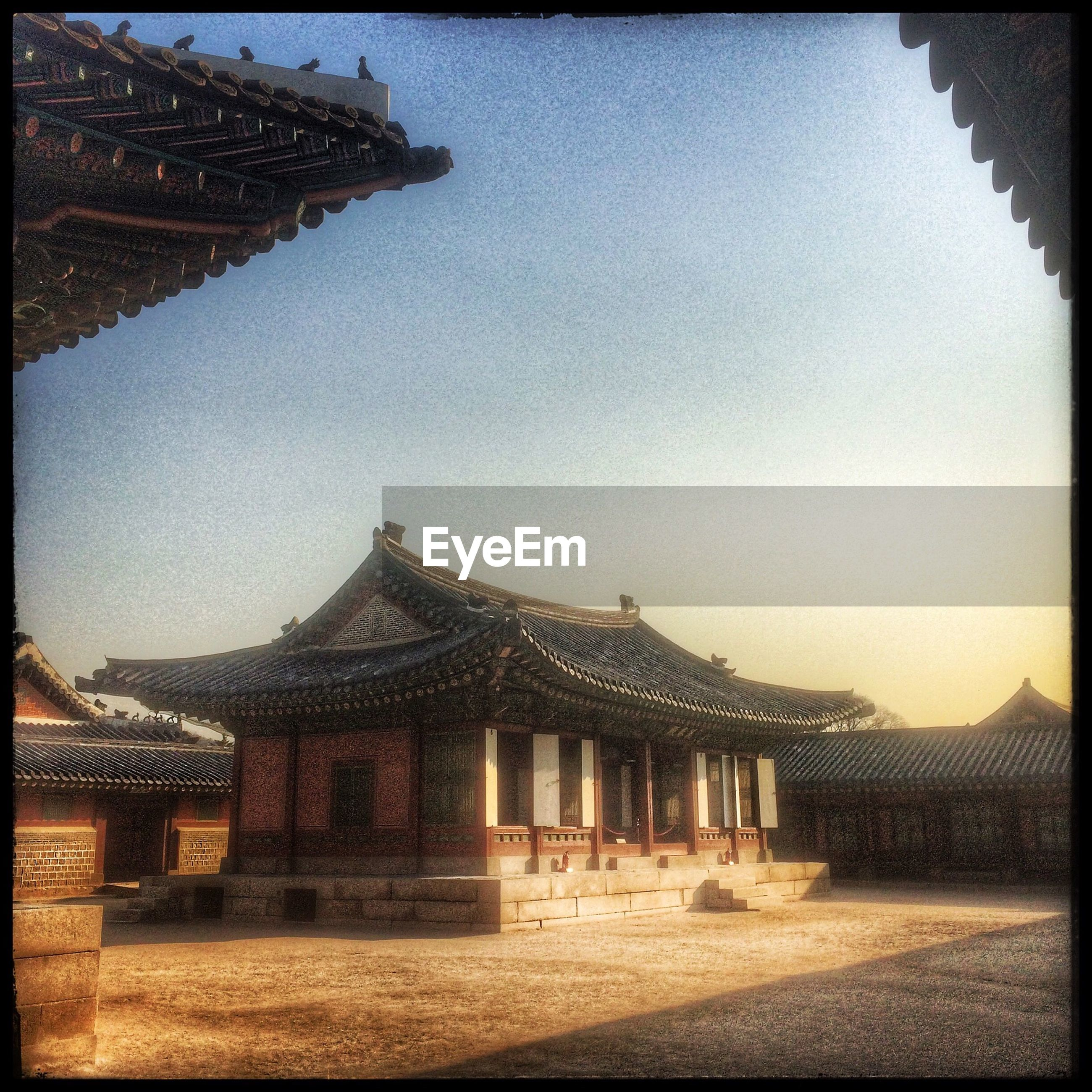 Exterior of gyeongbokgung against clear sky