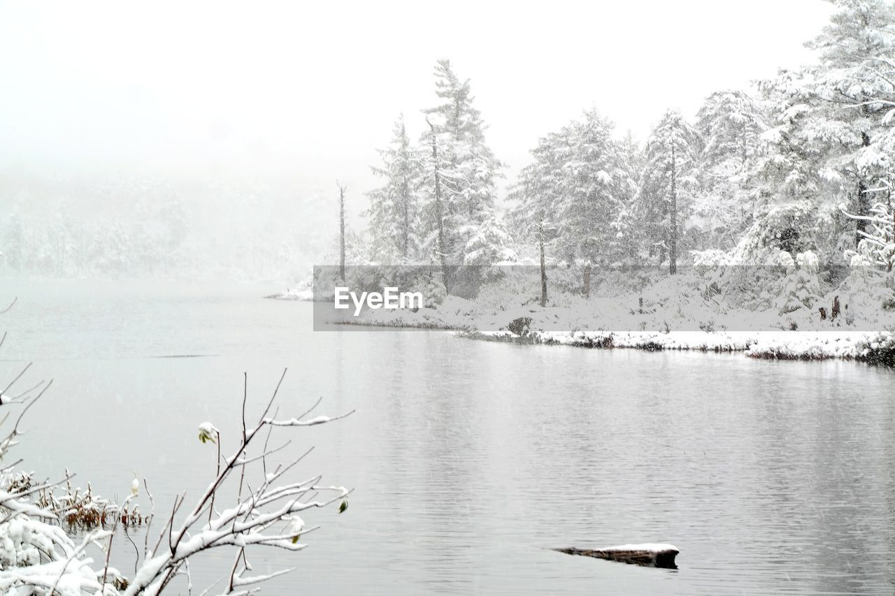 SCENIC VIEW OF LAKE BY SNOW