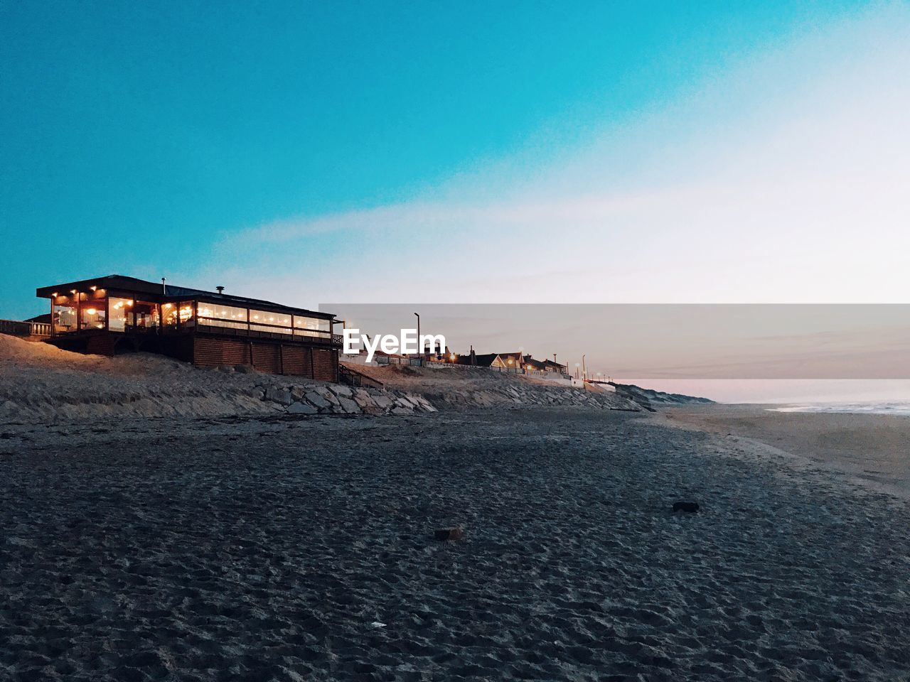 sky, architecture, built structure, building exterior, nature, copy space, sunset, no people, land, scenics - nature, beach, outdoors, abandoned, cold temperature, tranquility, water, transportation, tranquil scene, clear sky