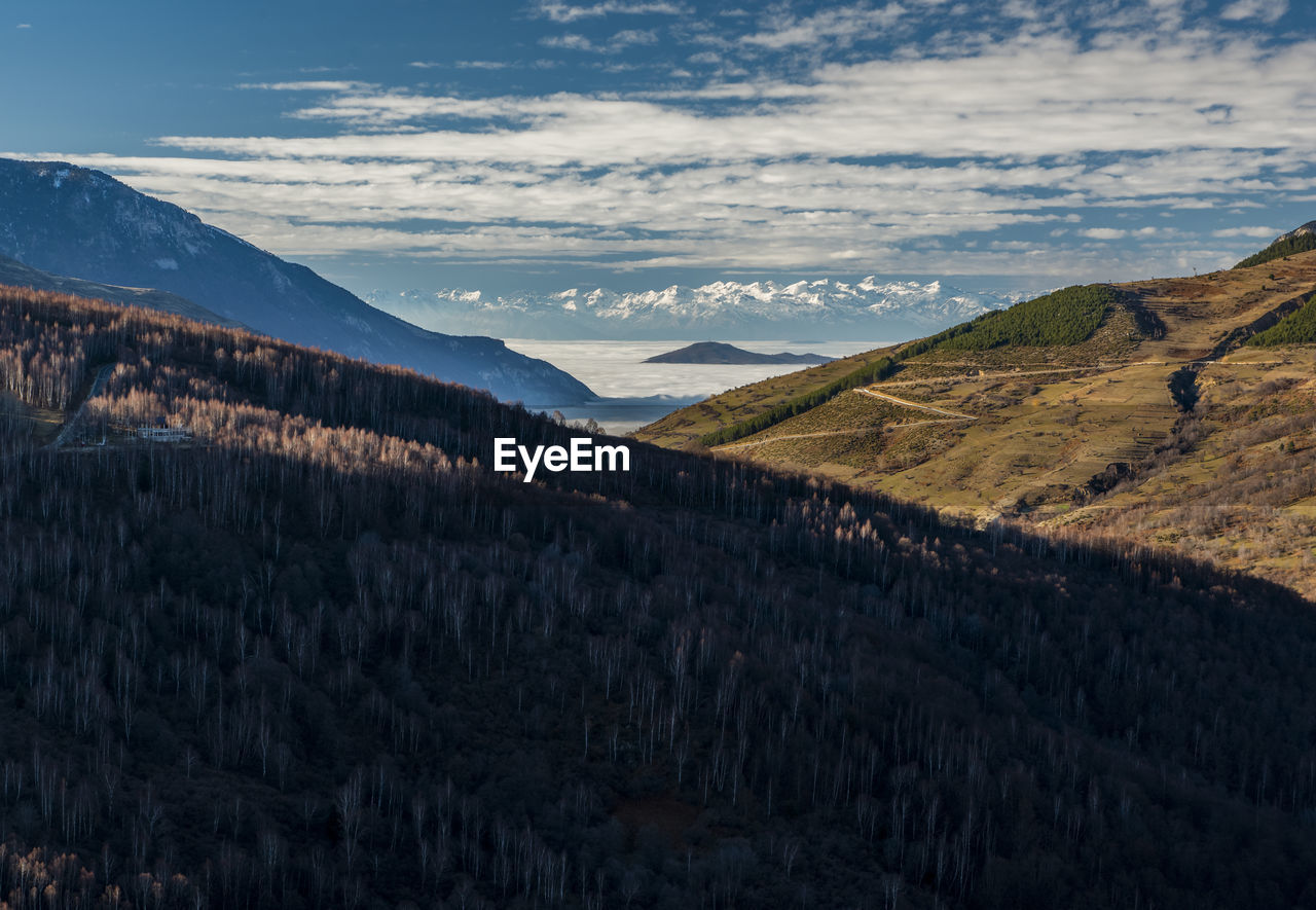 Scenic view of mountain landscape against sky