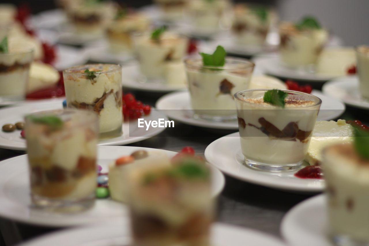 Full frame shot of food on table