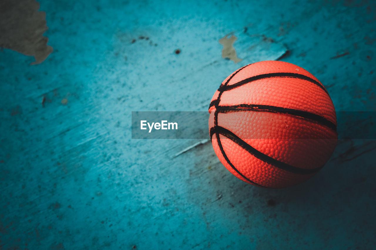 High Angle View Of Basketball On Table