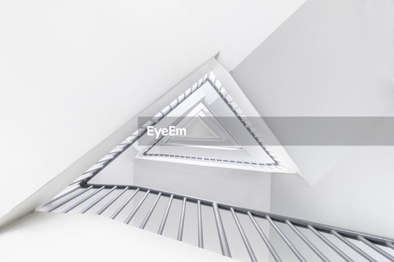 Directly Below Shot Of Staircase In Building