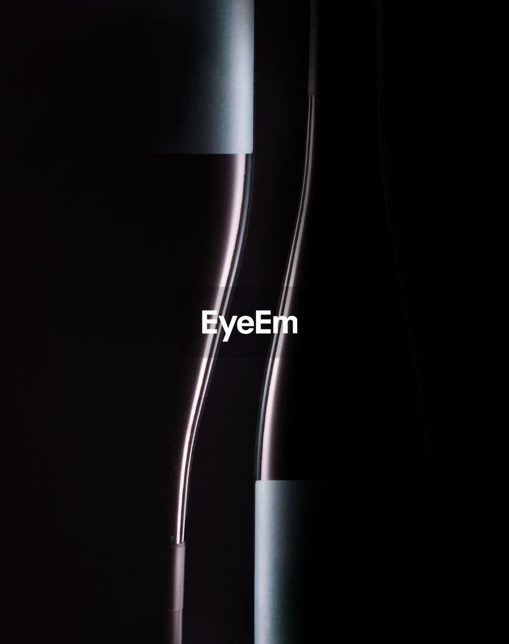 Wine bottle shape close-up