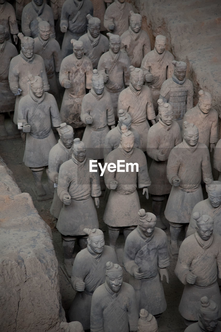 human representation, sculpture, male likeness, representation, art and craft, statue, creativity, history, the past, craft, no people, architecture, day, religion, large group of objects, travel destinations, high angle view, ancient, belief, carving - craft product
