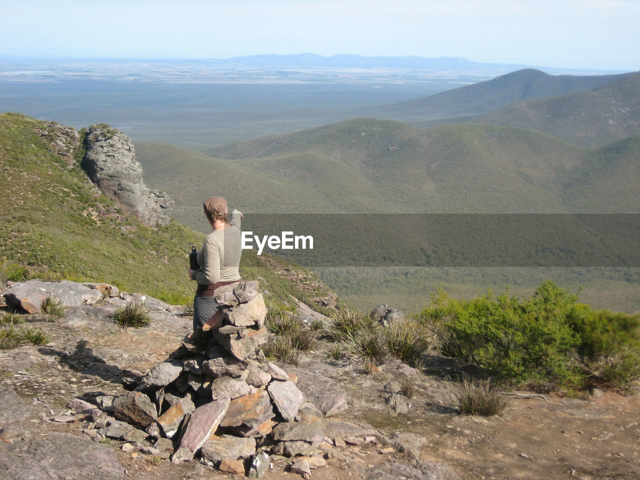 Rear View Of Woman Standing At Stirling Range National Park Against Mountains