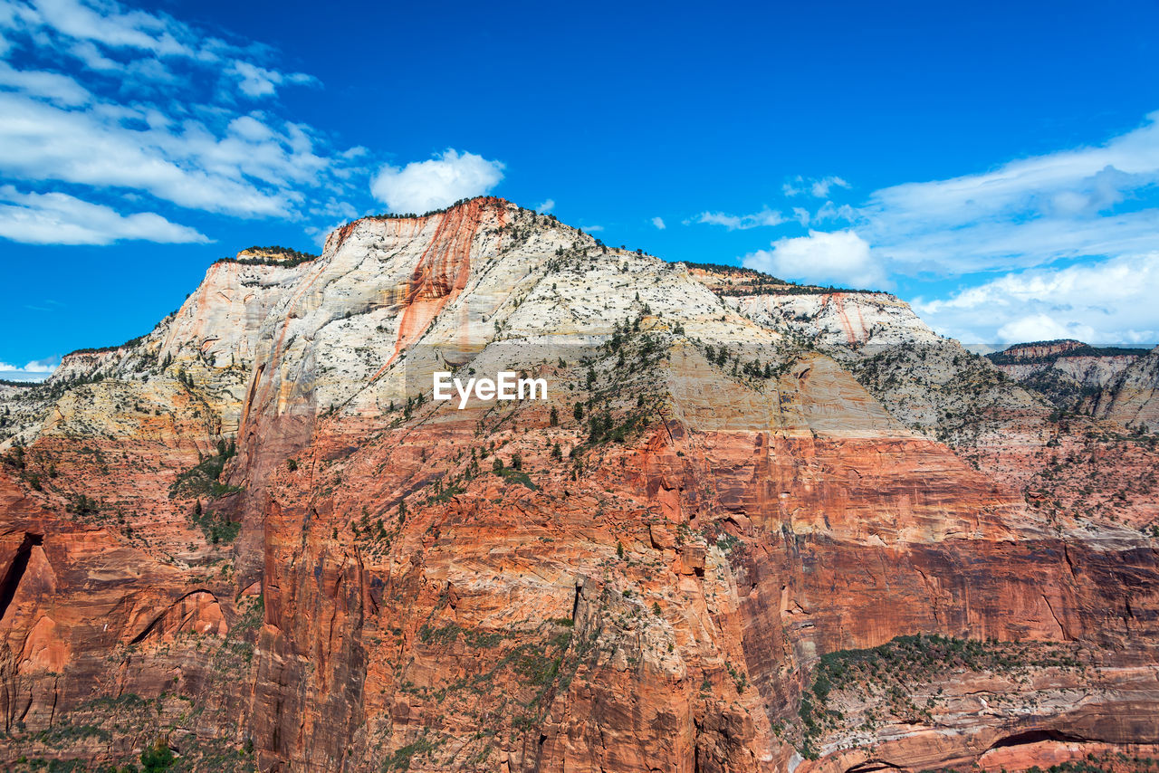 Low Angle View Of Rocky Mountain Against Sky
